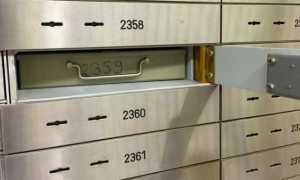 banca cassetta di sicurezza