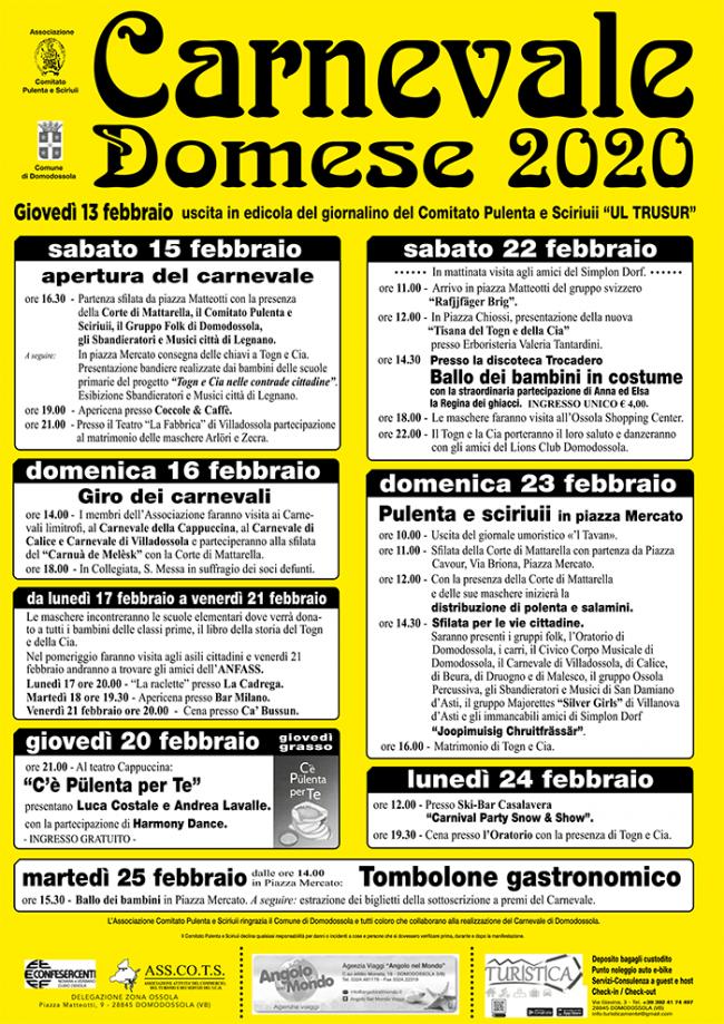 carnevale domo programma 20