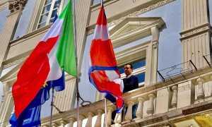 pizzi bandiera balcone