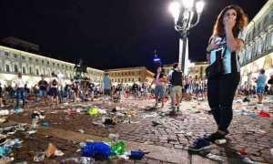 torino piazza juventus disordini